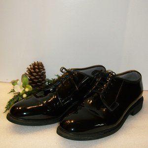 ❄️HP❄️BATES Sz 12 High Gloss Black Oxfords Vibram
